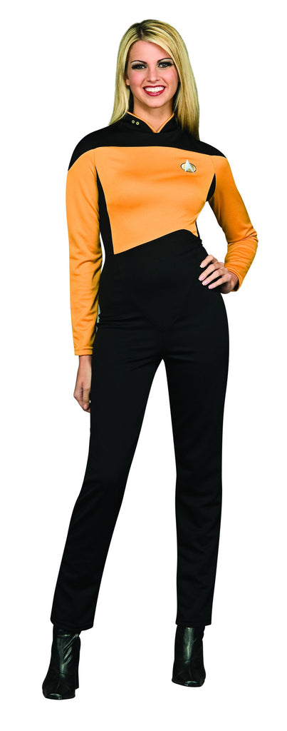 Women\s Star Trek Gold Jumpsuit Costume
