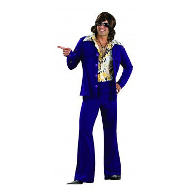 Mens Purple Retro Leisure Suit Costume