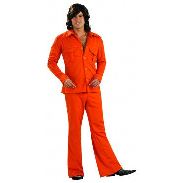 Mens Orange Leisure Suit