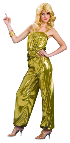 Womens Gold Disco Diva Costume