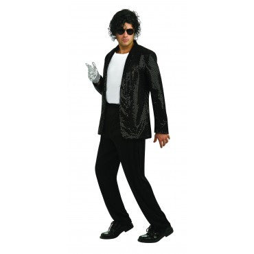 Mens Michael Jackson Deluxe Sequin Billie Jean Jacket