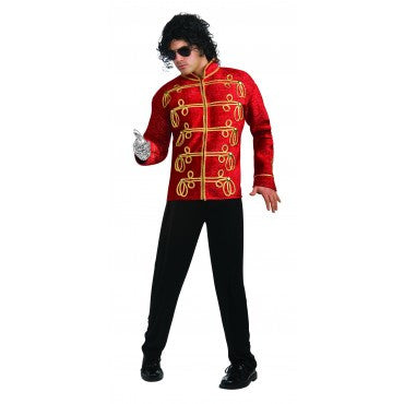 Mens Michael Jackson Deluxe Red Military Jacket