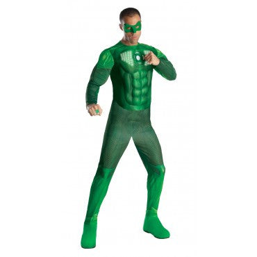 Mens Green Lantern Deluxe Light Up Hal Jordan Costume