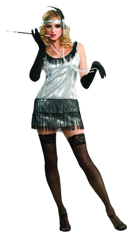 Womens Sequin Flapper Costume