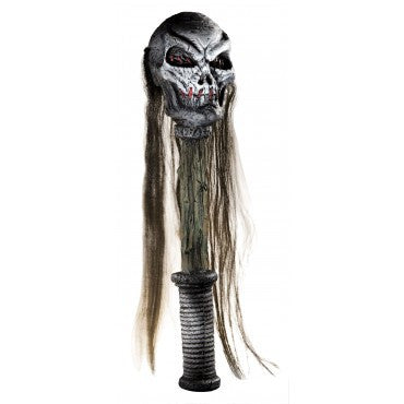 Hairy Voodoo Skull Staff