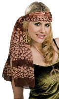 Womens Brown Scarf/Headband/Belt