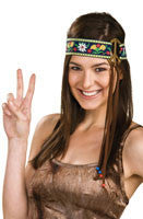 Headband with Peace Sign