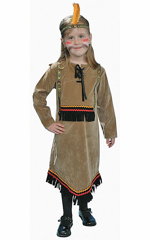 Girls Deluxe Indian Costume