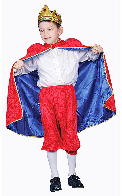 Boys Deluxe Red King Costume