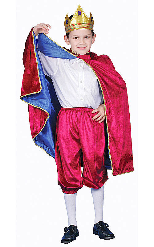 Boys Deluxe Maroon King Costume