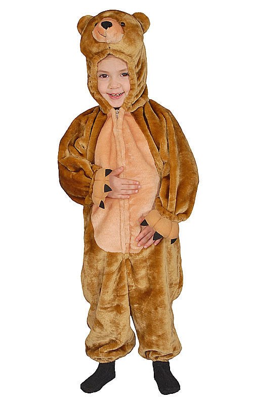 Kids Cuddly Brown Bear Costume
