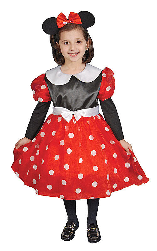Girls Deluxe Miss Mouse Costume