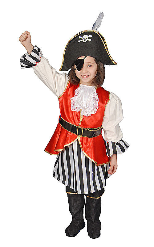 Girls Deluxe Pirate Costume