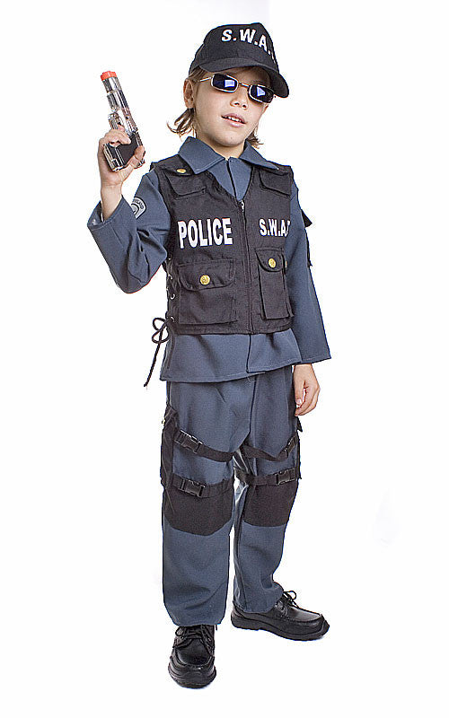 Kids/Toddlers SWAT Police Officer Costume
