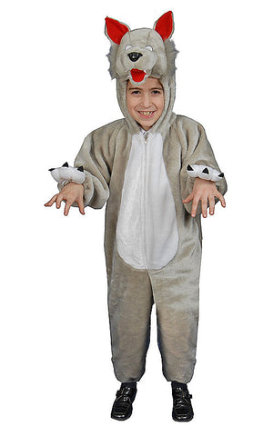 Boys Plush Wolf Costume