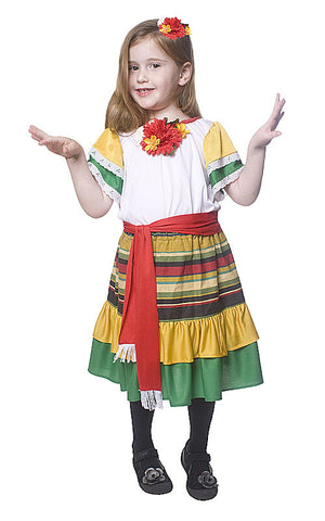 Girls Mexican Dancer Costume