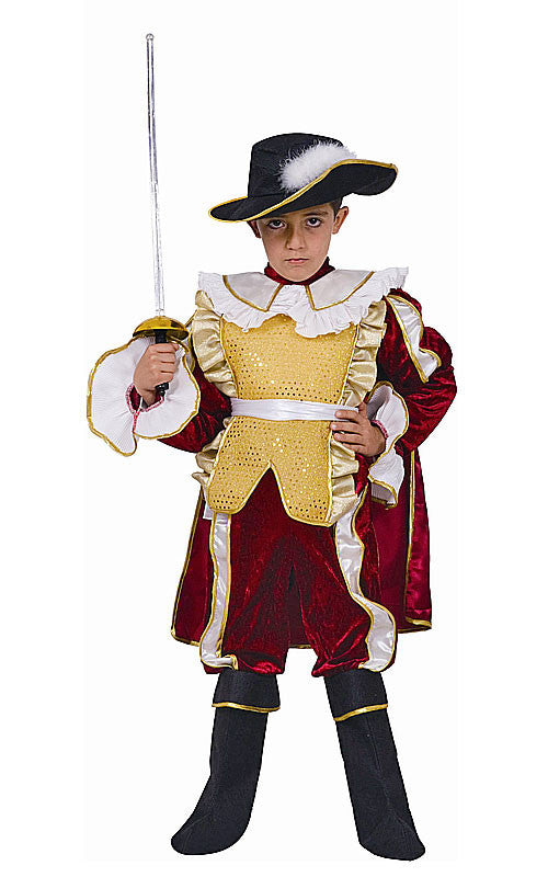Boys Red Noble Knight Costume