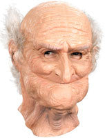 Funny Old Man Mask Deluxe Wrinkley Old Guy