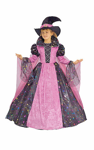 Girls Deluxe Witch Costume