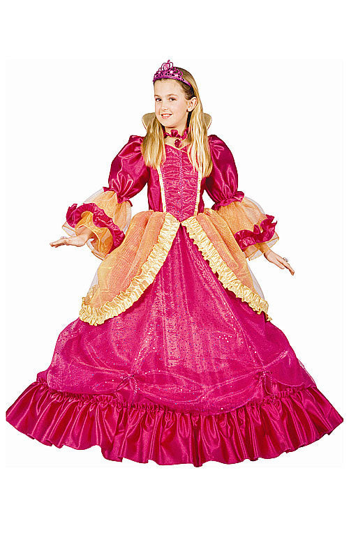 Girls Pretty Pink Princess Costume