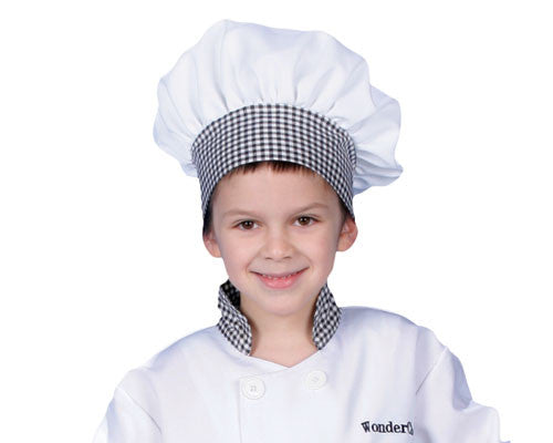 Kids Black & White Chef Hat