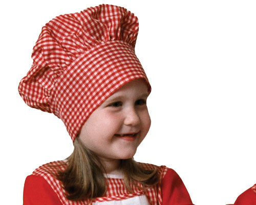 Kids Red & White Chef Hat