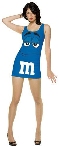 Womens Blue M&Ms Tank Dress