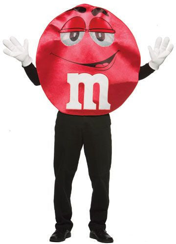 Adults Red Deluxe M&Ms Costume