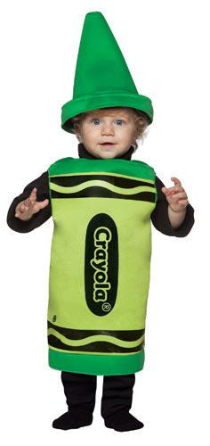 Infants/Toddlers Green Crayola Crayon Costume
