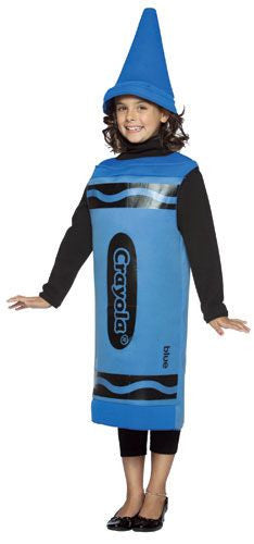 Kids Blue Crayola Crayon Costume
