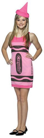 Girls Pink Crayola Crayon Tank Dress