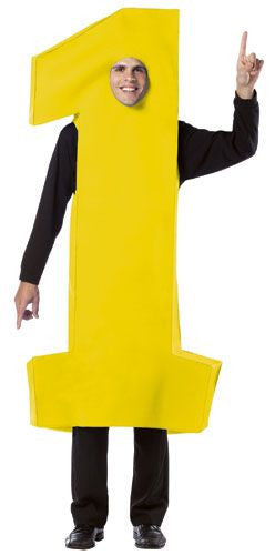 Adults Number 1 Costume (4 Colors)