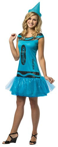 Teens Steel Blue Glitz & Glitter Crayola Crayon Dress