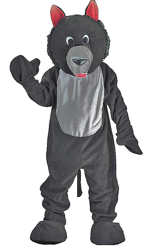 Adults Black Wolf Mascot Costume
