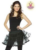 Teens Black Crinoline Skirt