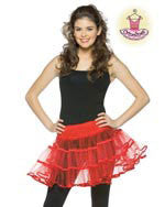 Teens Red Crinoline Skirt