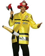 Mens Big Hose Fireman Costume