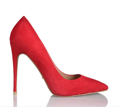 Rina red suede