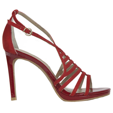 Patent red sandal