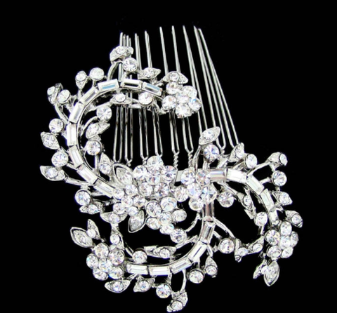 Intricate bridal comb
