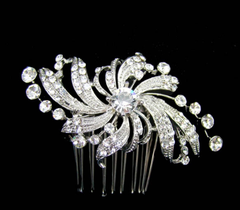 Marquise bridal comb