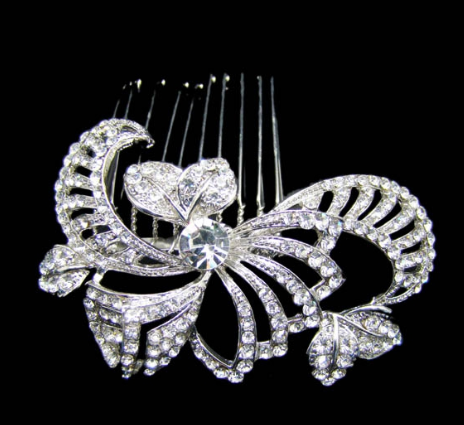 Art deco bridal comb