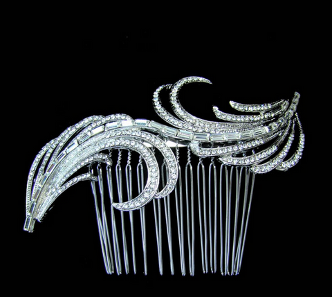 Crystal baguette hair comb