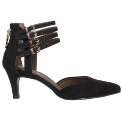 Layla black pointy shoe