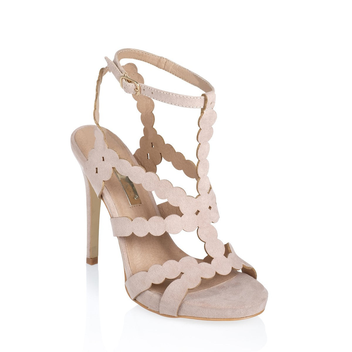 Daria blush strappy heels