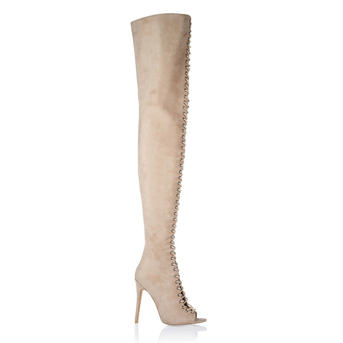 GAIA STONE SUEDE OVER THE KNEE BOOT