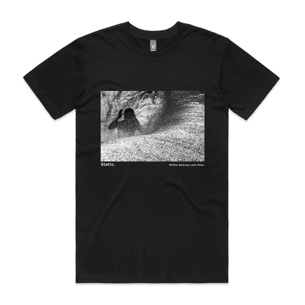 'Static. By Respondek' - Black T-shirt with photographic print (Featuring Craig Anderson) - Australia and USA shipping only.