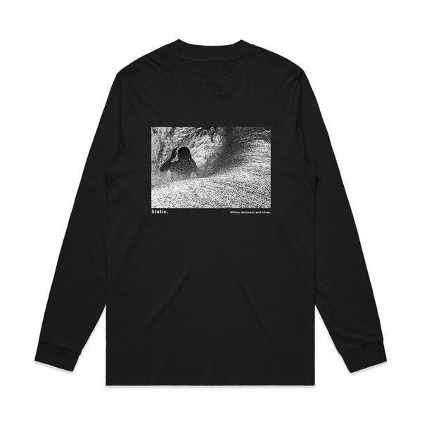 'Static. By Respondek' - Black long sleeve T-shirt with photographic print (Featuring Craig Anderson) - Australia and USA shipping only.