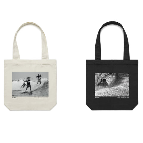 'Static. By Respondek' - 2 x Tote bag package offer - Australia and USA shipping only.