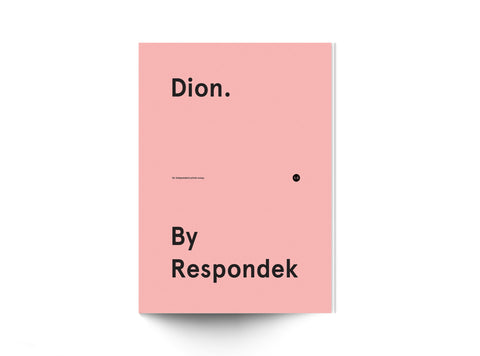 'Dion. By Respondek' - 120 page photo book featuring images of Dion Agius -  $25 AUD - (APPROX $17 USD)